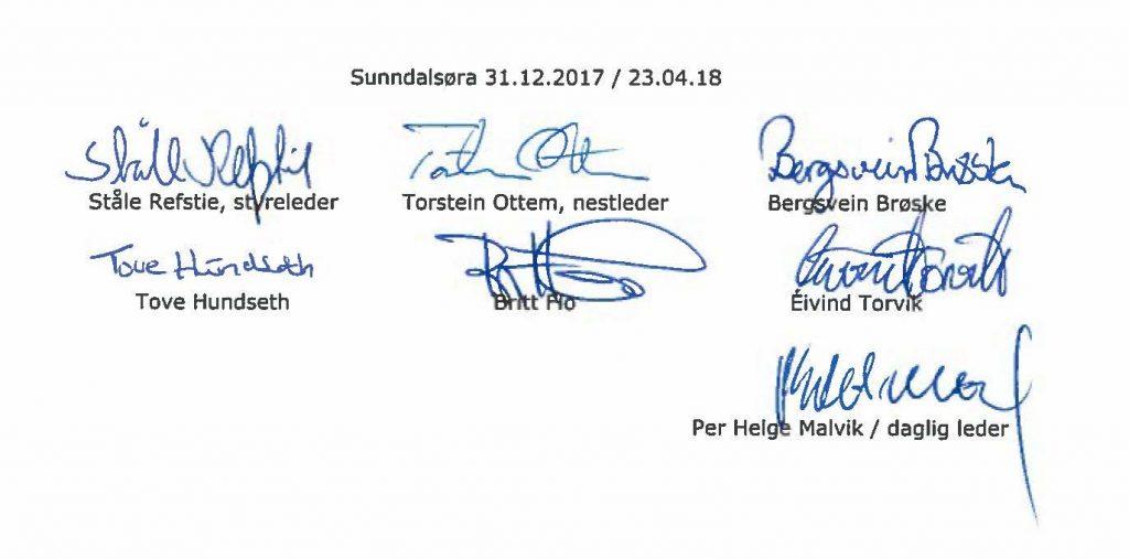 Signaturer Årsrapport 2017